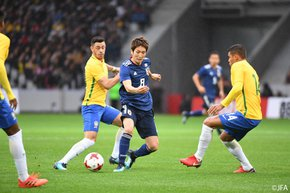 Makino scores in Japan's 3-1 loss to Brazil